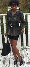 Mint Designer Genuine Gray Russian broadtail Fur Coat Jacket Stroller S 0-4