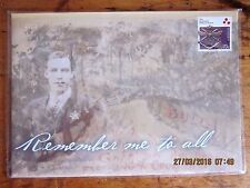 ~2014 WARTIME 1914-1918 LETTERS - REMEMBER ME TO ALL COVER w PLASTIC SLEEVE~