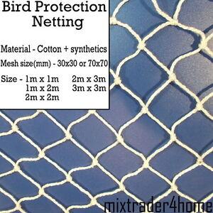 Bird Protection Netting Cotton+Synthetics Net 2mm Cord Natural Anti Bird Garden