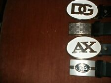 Brand New Lot Of 4 Fashion Buckles 4 Different Designs Silver Color And White