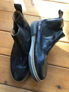 Lucchese Black Leather Ankle Chukka Boots Mens 10.5 Wide