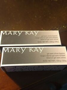 Lot of 2 Mary Kay Gel Semi-Shine Lipsticks in Naturally Buff
