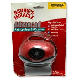 Nature's Miracle Red Pick-Up Bag Dispenser With Bags  --------- (S)