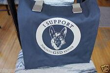 I SUPPORT TORONTO GSD RESCUE*German Shepherd Dog*Tote/Shopping Bag*Black Canvas