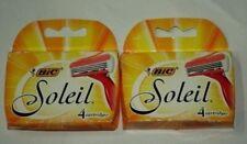 8 Bic Soleil Women Blades Cartridges Refills Shaver Fit Schick Quattro Razor 4*2