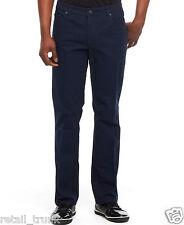 Kenneth Cole Reaction Dressy Five-Pocket Pants, Navy 34Wx30L