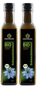 Kräuterland Bio Schwarzkümmelöl, 500ml, kaltgepresst, ungefiltert, mühlenfrisch
