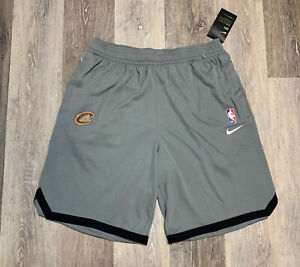 Nike Cleveland Cavaliers On-Court Practice Warm Up Shorts Gray Men's Size Large