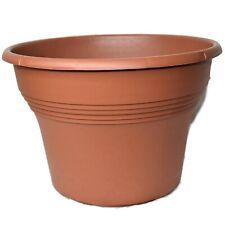"Set of 10 - 10"" Plastic Khan Saturn Round Planters - Pots - Flower - Landmark"