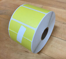45 Rolls UPC Label 1175 Pcs 2.25x1.25 Direct Thermal REMOVABLE Yellow Zebra 2824