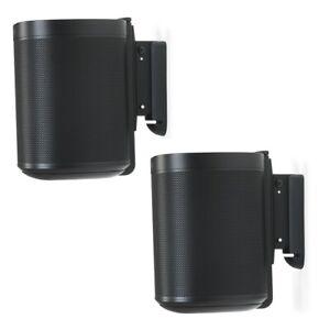 Sonos One Wandhalterung, verstellbar, Paar schwarz (Flexson FLXS1WM2021)