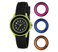 Tikkers 4 Interchangeable Bezels Watch New Rubber Strap Time Wristwatch