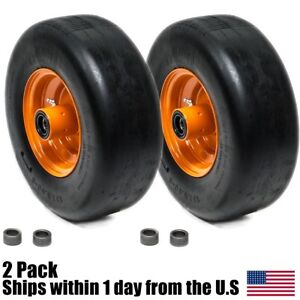 2PK Flat Free Tire Assemblies fits Some Scag 13x5.00-6 483049 9277