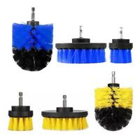 3pcs Round Electric Bristle Drill Brush Tub Rotary Cleaning Tool Attachment