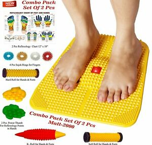 Acupressure Health Care India Power Mat with Magnets and Pyramids