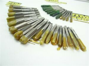 """LOT OF 29 FRESHLY SHARPENED ASSORTED TAPS 10-32UNJF TO 9/16""""-18UNJF REGAL USA"""