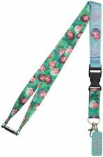 Golden Girls Tropical Breakaway Lanyard with ID Holder and Charm