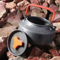 Aluminum Water Kettle Outdoor Camping Portable Tea Pot with Rubber Handle