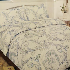 COLOROLL FLORAL VALE BLUE TEAL DOUBLE SIZE DUVET COVER SET  FREE DELIVERY