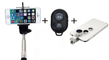 SELFIE STICK + BLUETOOTH REMOTE CAMERA SHUTTER BUNDLE