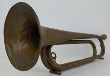 Vintage US Regulation Brass Military Bugle Horn Instrument House Decor No Sound
