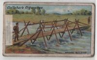 Bridge Built By Royal Engineers  For Crossing Shallow Stream 1915 Ad Trade Card