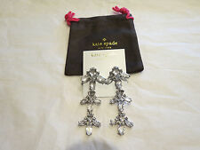 Kate Spade Ice Queen Chandelier Earrings Bridal Wedding w/Bag $158 Authentic NWT