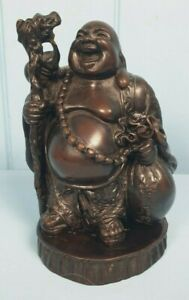 Buddha Laughing Good Fortune Cast Resin Figurine Ornament