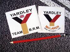YARDLEY McLAREN Classic f1 Stickers Grand prix Garage Car TEAM BRM Formula 1