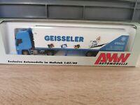 (Box K10) AMW / AWM LKW H0 1:87 Iveco Kühl Sattelzug Geisseler OVP