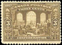 1917 Mint NG Canada F+ Scott #135 3c 50th Anniversary Issue Stamp