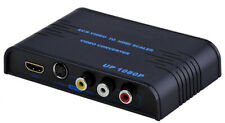 Premium CVSB S-Video RCA To HDMI DVI Video Up Converter With 1080p 720p Output