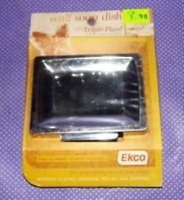 Vtg NOS New Ekco Chrome Metal Wall Mount Soap Dish S4500P