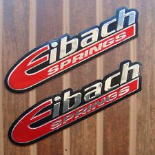2PC. EIBACH SPRINGS DECAL STICKER DIE-CUT FOIL EMBOSS RACING AUTO MOTOR SPORTS