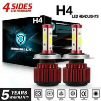 2pc H4 HB2 9003 LED Headlight Kit Bulbs 200W 24000LM Hi-Lo Beam 6500K White Lamp