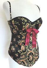 Silk Bandeau Floral Corsets for Women