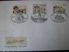 FDC EMISSION COMMUNE SUISSE BELGIQUE FRANCE  GEORGES SIMENON  15/10/1994