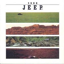 1988 Jeep Sales Brochure Cherokee Wagoneer Comanche mw5881-T3S9OO