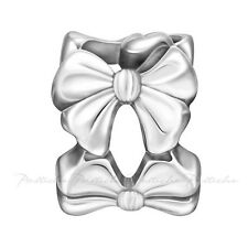 Lovelinks Bead Sterling Silver, Ring Of Bows Charm In Oxidised Jewelry TT599