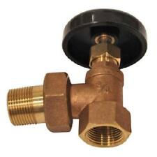 "HVAC 3/4"" BRASS HOT WATER ANGLE RADIATOR SHUT OFF VALVE W/ NUT AND COUPLING NEW!"