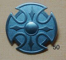 Keltenschild silberfarbend Kelten Schild Alchemie Skull Gothik Pin Badge # 50