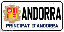 Andorra Novelty Car License Plate
