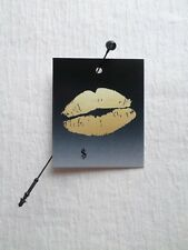 100 Small Tags Rebe'S Creations Gold Lips Accessories Hang Tags Plastic Loops