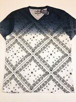 American Rag Cie New Paisley Fade Blue Short Sleeve T-Shirt Men's Size XL