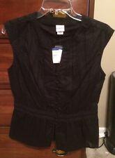 New Covington Black Sleeveless Blouse Sz Small
