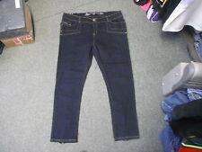 "Unknown Slim Leg Jeans Waist 44"" Leg 32"" Faded Dark Blue Ladies Jeans"