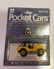 Vintage Tomy Tomica Pocket Yellow Baja Jeep Rare On Blister