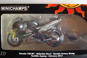 Valentino Rossi #46 Yamaha Yzr M 1 Testbike Sepang 2013 1:12 Minichamps