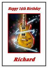 Personalised Guitar  Birthday Card