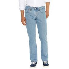 NEUF + étiquettes * Levi * ORIGINAL 501 bleu clair coupe droite jeans 34 x 34 L RRP £ 80